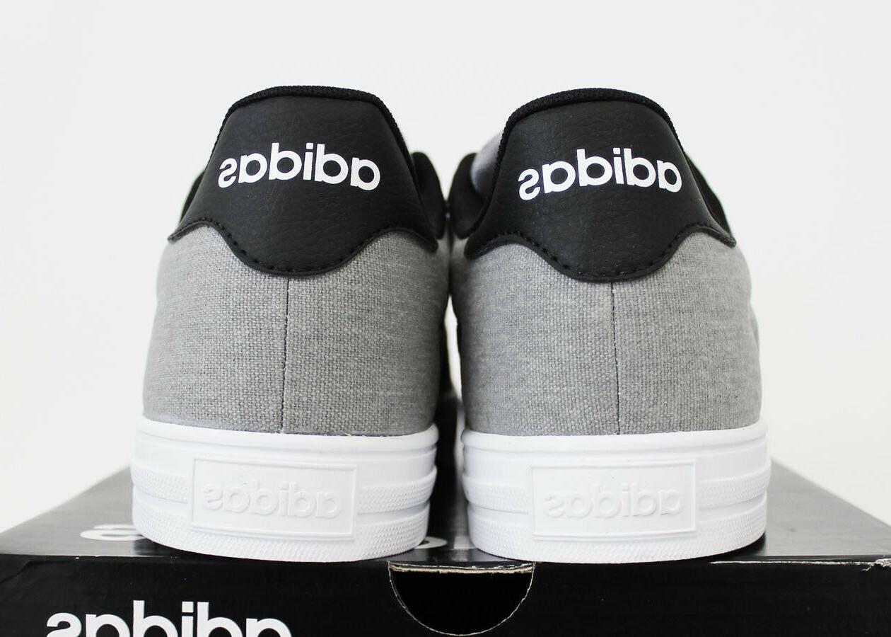 NIB ADIDAS Daily Men's Grey Hemp Canvas Low Top Shoes