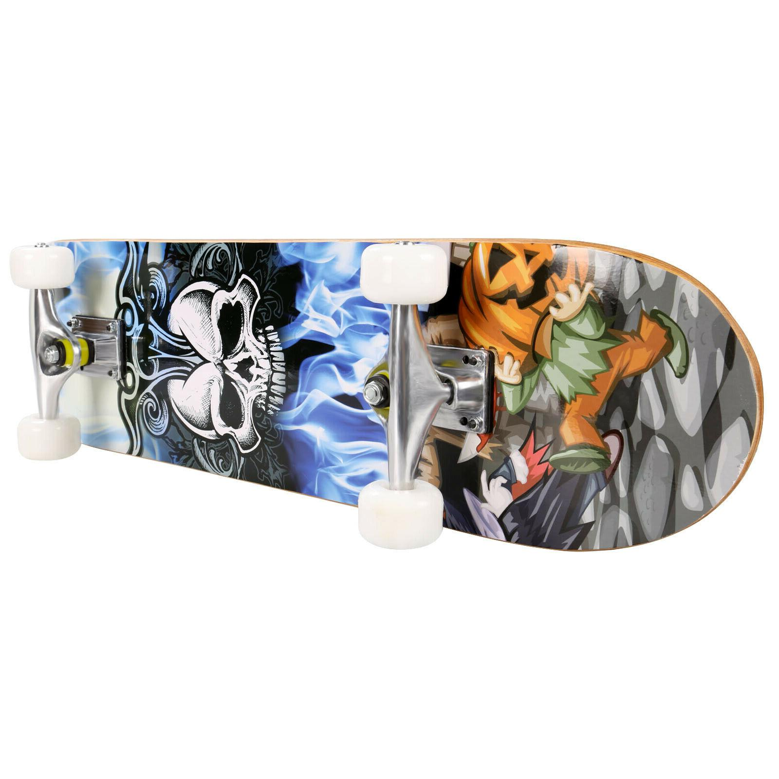 Professional Skateboard Complete Wheel Deck Solid