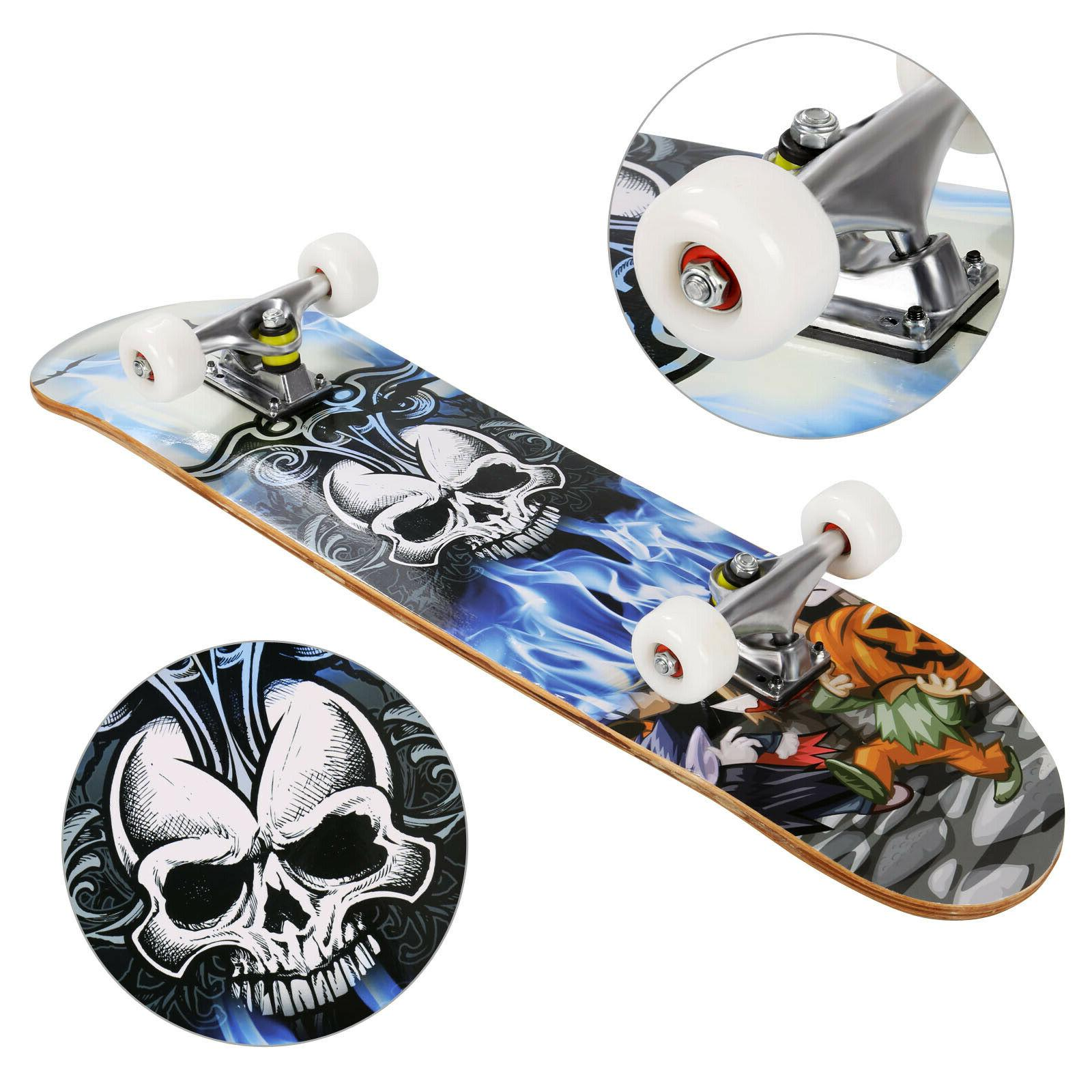 professional adult skateboard complete wheel truck maple