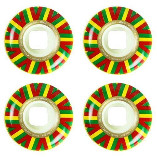 Element Skateboard Wheels Rasta Sun 56mm 99A Park Formula