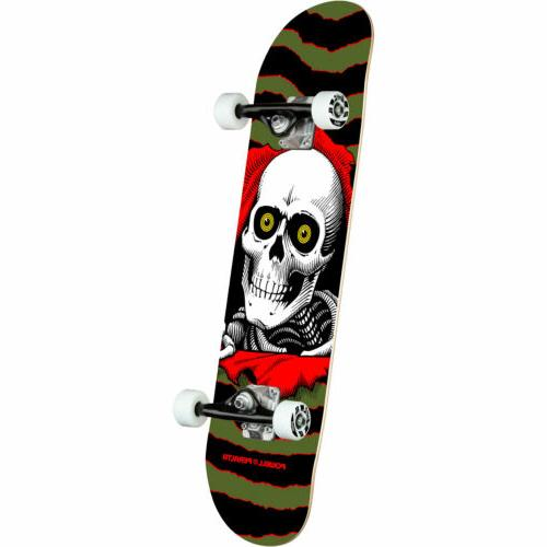 skateboard complete ripper olive 7 x 28