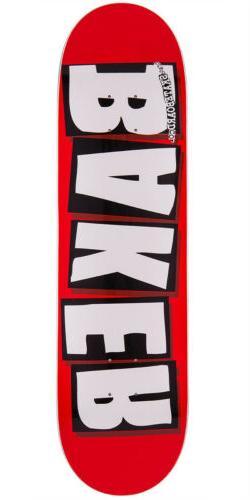 """BAKER SKATEBOARD DECK Brand Logo White 8.5"""""""