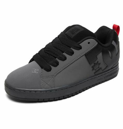 skateboard shoes court graffik grey black red
