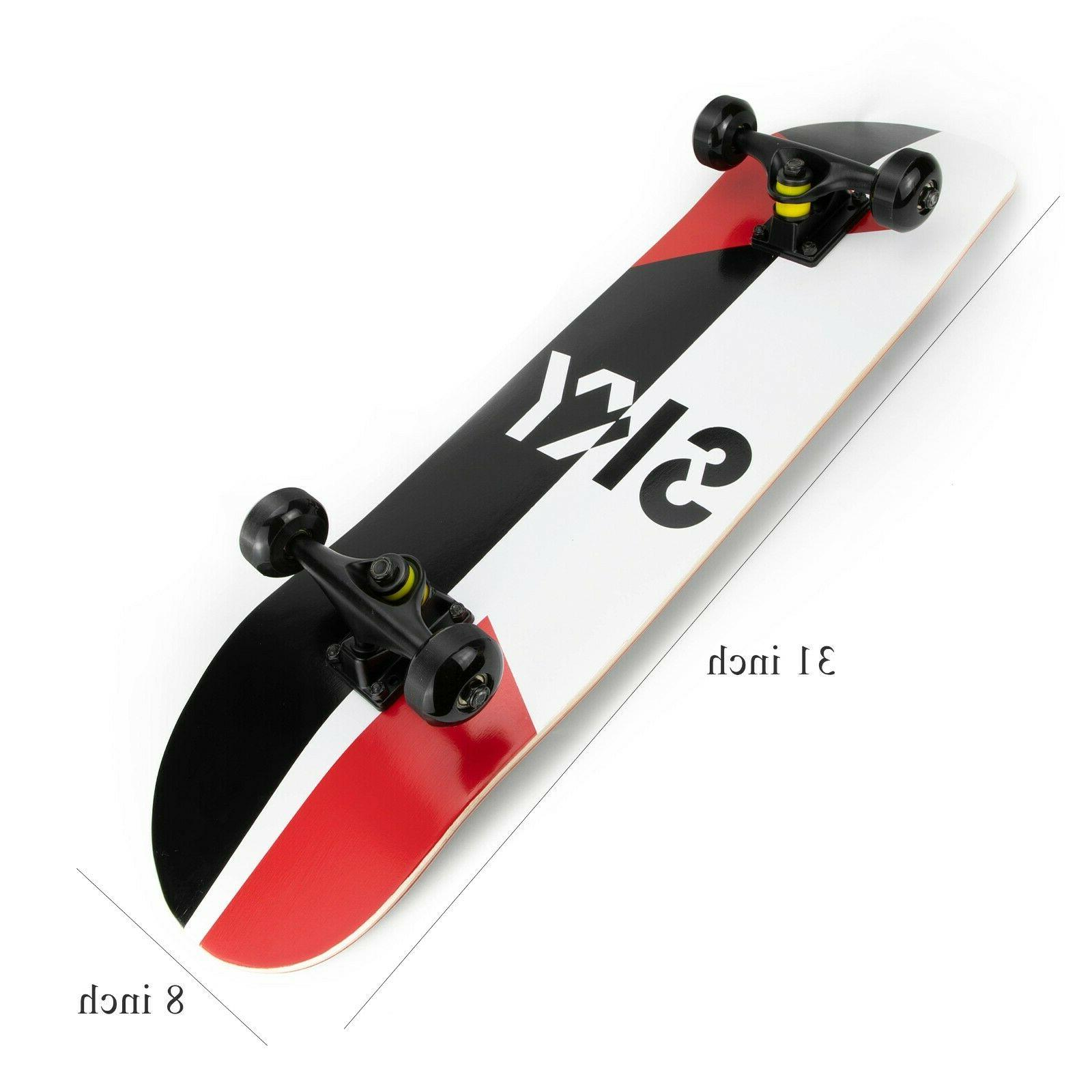 skateboards 31 inch complete for adults youth
