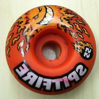 vintage orange urethane skateboard wheel size 55mm
