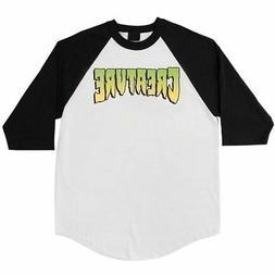 Creature Skateboards Logo 3/4  Long Sleeve T-Shirt White Men