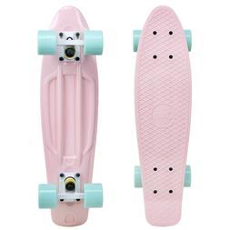 "Cal 7 22.5"" Complete Mini Cruiser Plastic Skateboard"