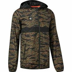 Men's Adidas CamouFlage BB Wind Packable Jacket Hooded Full
