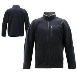 Men's Full Zip-Up Collared Sweatshirt Lightweight Warm Polar
