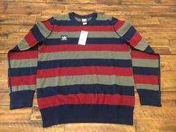 Adidas Originals Men's Skateboarding Striped Sweater Size XL