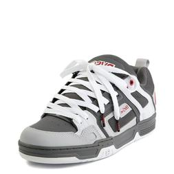 Mens DVS Comanche Skateboarding Shoes NIB Charcoal White Red