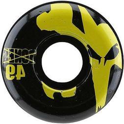 New Bones 100's Icon Black/Yellow Skateboard Wheels 49mm 100