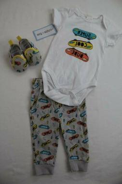 new baby boys 3pc outfit 6 9