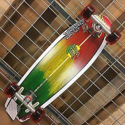 NEW Santa Cruz Landshark Rasta Cruzer Complete Skateboard -