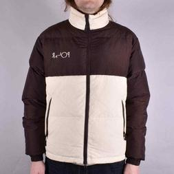 New Polar Skate Skateboard Co Combo Puffer Jacket Brwn / Cre