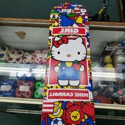 "New Girl Skateboard Hello Kitty Mike Carroll 2009 8"" Skatebo"
