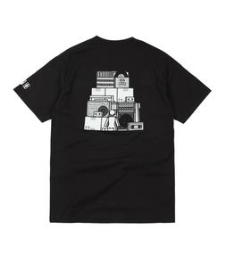 New Girl Skateboards x Subpop Records Collab Stacked Logo T-