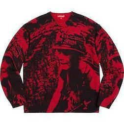 Supreme NWT Supreme Is Love Sweater RED IN HAND SIZE LARGE