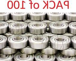 Pack/Lot 100 inline/Skate/Skateboard Ball Bearings 608Z Roll