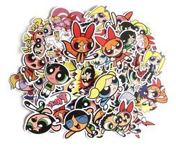 POWERPUFF GIRLS Assorted Skateboard Stickers Lot Of 36 Piece