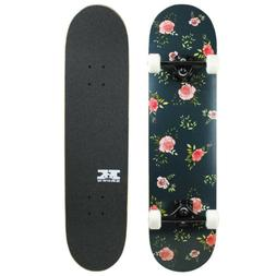 "Pro Skateboard Complete Pre-Built Floral Flowers 7.75"" Ready"