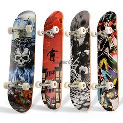 Professional Adult Skateboard Complete Wheel Truck Maple Dec