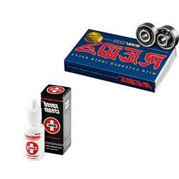Bones Race Reds Skateboard Bearings 8-Pack 8mm with Speed Cr