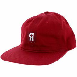 REAL Skateboards Red Lowpro 6 Panel Strap back Hat New Cap F