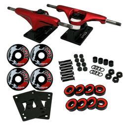 CORE Red SKATEBOARD TRUCKS, Wheels, AMP ABEC 5 Bearings