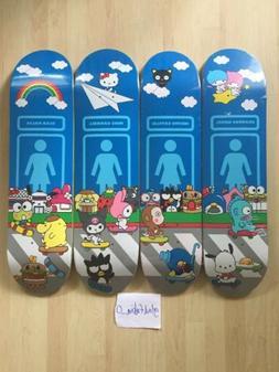sanrio world X girl skateboard hello kitty 4 deck complete S
