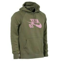Nike SB Icon Hoodie Olive Green/Pink Men's Size XXL AQ9565-2