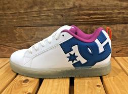 DC Shoes Court Graffik SE - White/Black/Cyan - Men's Skatebo