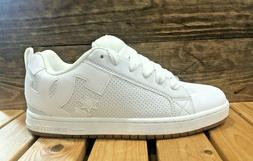 DC Shoes Court Graffik - White/White/Gum- Men's Skateboard S