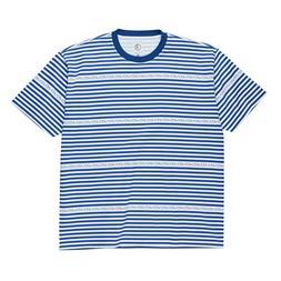 Polar Skate Co. Stripe Logo T-Shirt Blue Men's Stripey Skate