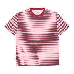 Polar Skate Co. Stripe Logo T-Shirt Red Men's Stripey Skateb