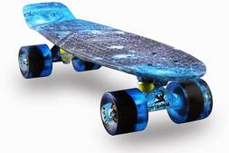 Meketec Skateboard Complete 22 Inch Mini Cruiser Retro Kids