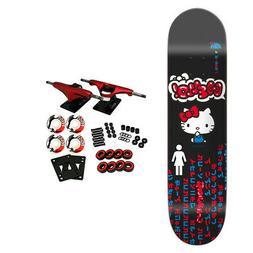 "Girl Skateboard Complete Biebel Hello Kitty Sanrio 8.125"" x"