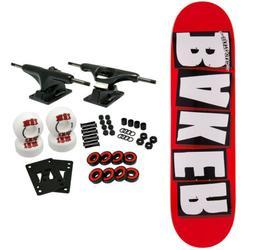 BAKER SKATEBOARD COMPLETE Brand Logo White 8.5' Black Trucks