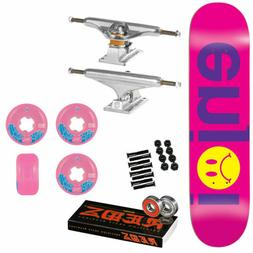 Enjoi Skateboard Complete Frowny Face No Brainer Purple 7.75