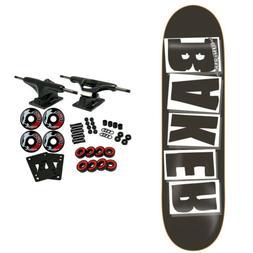 """Baker Skateboard Complete Logo Black/White 8.25"""""""