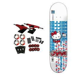 """Girl Skateboard Complete McCrank Hello Kitty Sanrio 8.125"""" x"""