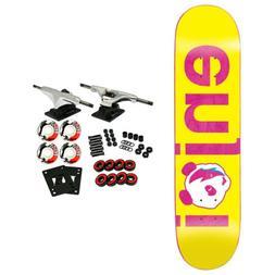 "Enjoi Skateboard Complete No Brainer Yellow/Pink 7.75"""