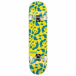 "Enjoi Skateboard Complete Repeater Yellow 8.375"" Raw trucks"