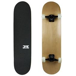 PRO Skateboard Complete Pre-Built NATURAL 8.0 Black trucks W