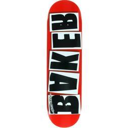 Baker Skateboard Deck Brand Logo Red/Black 8.38' BRAND NEW I