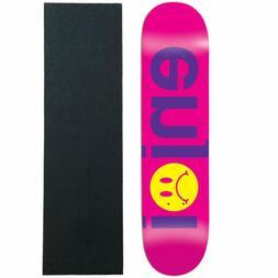 "Enjoi Skateboard Deck Frowny Face No Brainer Purple 7.75"" wi"