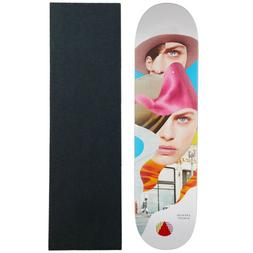 "Almost Skateboard Deck Girl Collage Song 7.75"" with Mob Grip"
