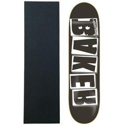 """Baker Skateboard Deck Logo Black/White 8.475"""" OG Shape with"""