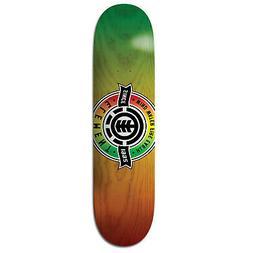 "Element Skateboard Deck Medallion Rasta 8.0"""