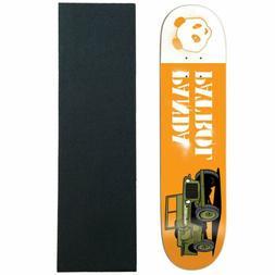 "Enjoi Skateboard Deck Panda Patrol Orange 8.0"" with Grip"